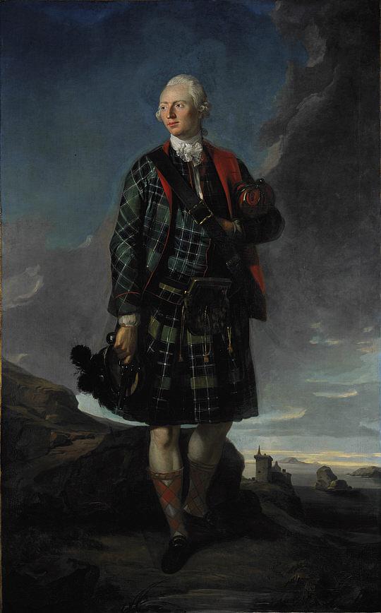 Сэр Александр Макдональд в «старинных одеждах кельтского вождя», вторая половина 18-го века.