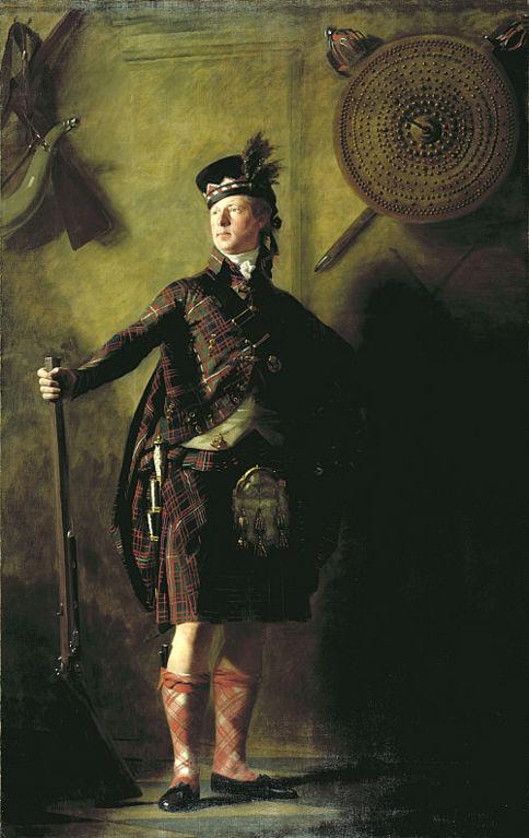 Алистер Ранальдсон Макдоннел из Гленгарри, любитель шотландской старины в 1812-м году нарисован в килте