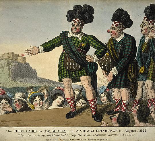 Сатира на «шотландские экзерцисы» короля Георга