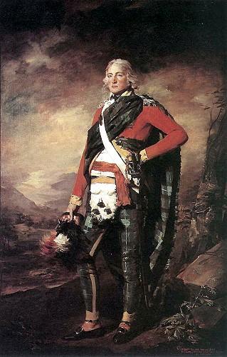 Сэр Джон Синклер в 1795-м году – «шотландскость» подчеркнута узкими штанами и тартаном
