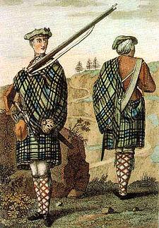 Шотландские солдаты в килтах-пледах