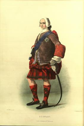 Иллюстрация кисти Макиана из книги Дж.Логана «Кланы шотландских хайлендов»